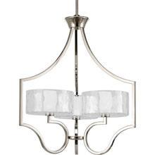 Progress Lighting P4644-104WB Caress Three-Light Chandelier