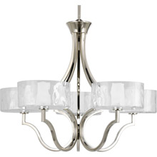 Progress Lighting P4645-104WB Caress Five-Light Chandelier