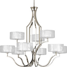 Progress Lighting P4646-104WB Caress Nine-Light Chandelier