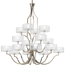 Progress Lighting P4685-104WB Caress Sixteen-Light Chandelier