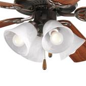 Transitional Air Pro Ceiling Fan Light Kit - Progress Lighting P2610-20