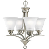 Transitional Trinity Four Light Mini Chandelier - Progress Lighting P4326-09