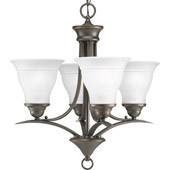 Transitional Trinity Four Light Mini Chandelier - Progress Lighting P4326-20