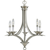 Transitional Trinity Five Light Chandelier - Progress Lighting P4327-09