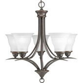 Transitional Trinity Five Light Chandelier - Progress Lighting P4328-20