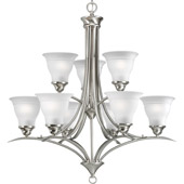 Transitional Trinity Nine Light Chandelier - Progress Lighting P4329-09
