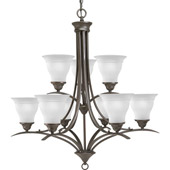 Transitional Trinity Nine Light Chandelier - Progress Lighting P4329-20