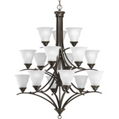 Transitional Trinity Fifteen Light Chandelier - Progress Lighting P4365-20