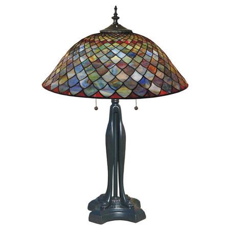 Paul Sahlin Tiffany 1228 Fishscale Table Lamp