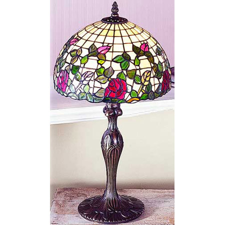 Paul Sahlin Tiffany 1230 Tiffany Rose Garden Table Lamp