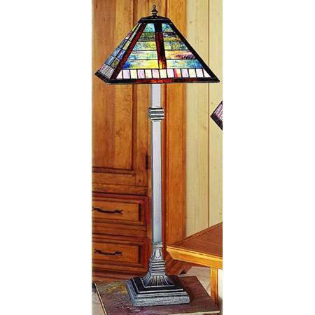 Paul Sahlin Tiffany 1249 3 Horizontal Line Pattern Buffet Lamp