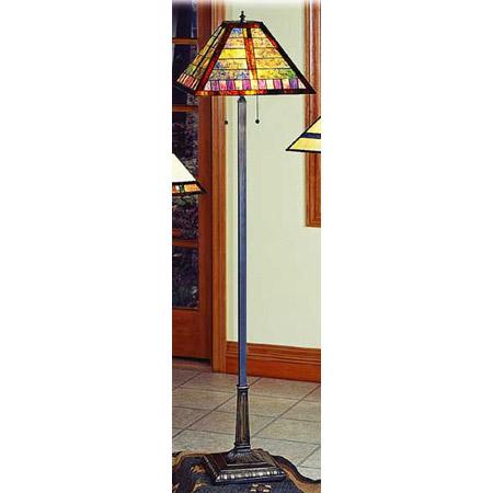 Paul Sahlin Tiffany 1298 Horizontal Line Pattern Floor Lamp