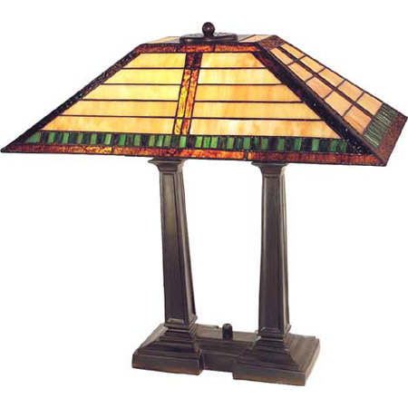 Paul Sahlin Tiffany 992 Horiztonal Line Pattern Desk Table