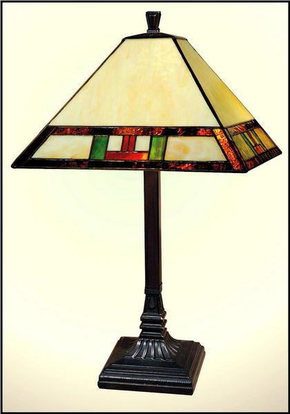 Paul Sahlin Tiffany 1290 Simple Border Table Lamp