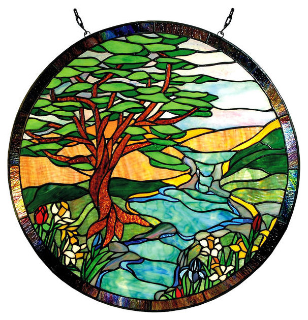 Glass Window: Round Stained Glass Window