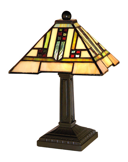 Paul Sahlin Tiffany 1638 Small Squares Banner Accent Lamp