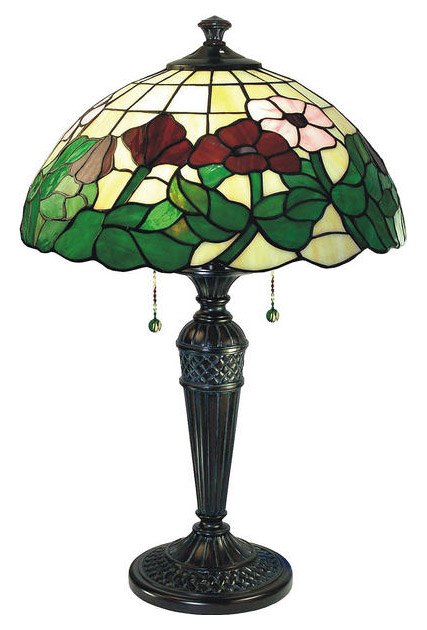 Paul Sahlin Tiffany 438 Poppy Flower Table Lamp