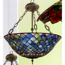 Paul Sahlin Tiffany 1556 Fishscale Inverted Pendant