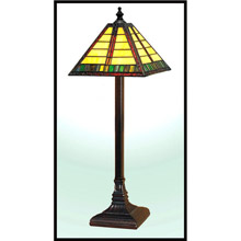 Paul Sahlin Tiffany 976 Horizontal Line Pattern Buffet Lamp