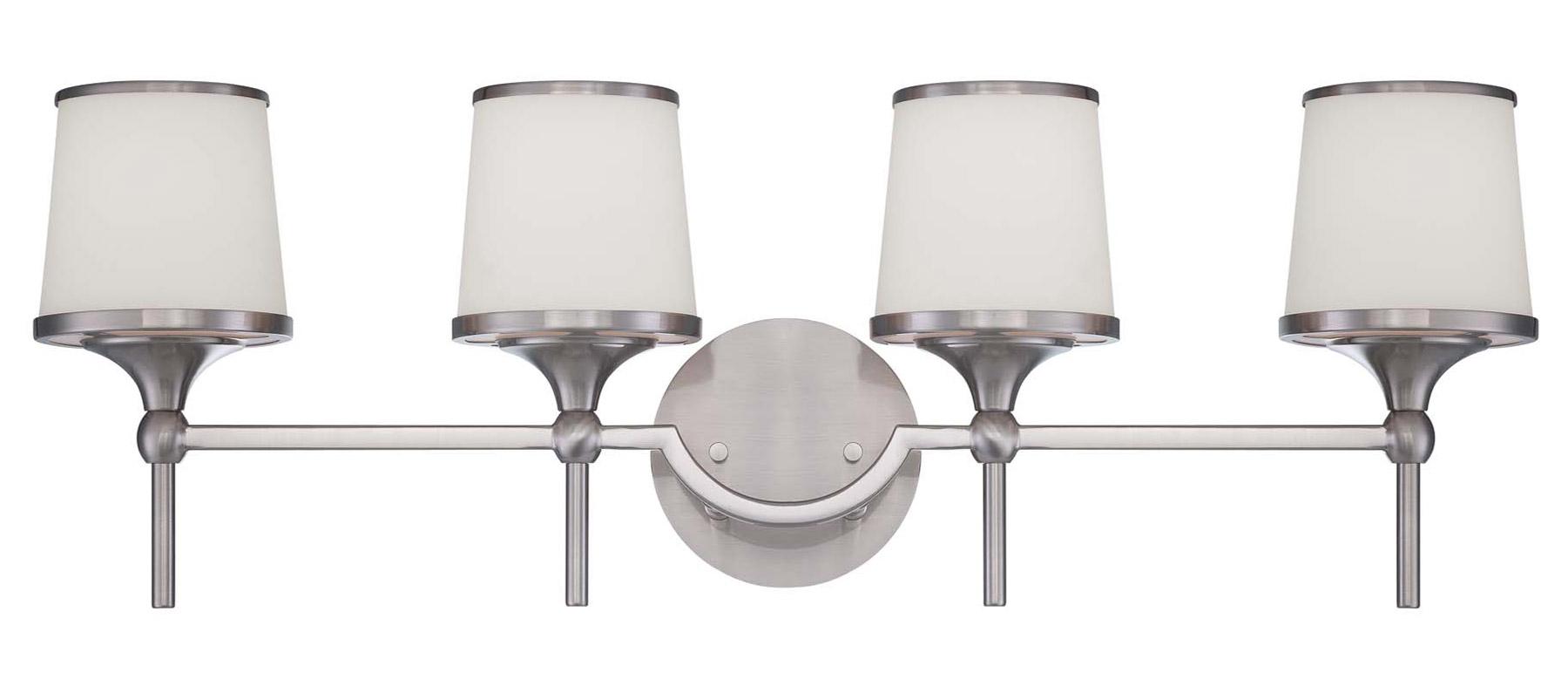 Savoy house 8 4385 4 sn hagen vanity light for Savoy house bathroom lighting