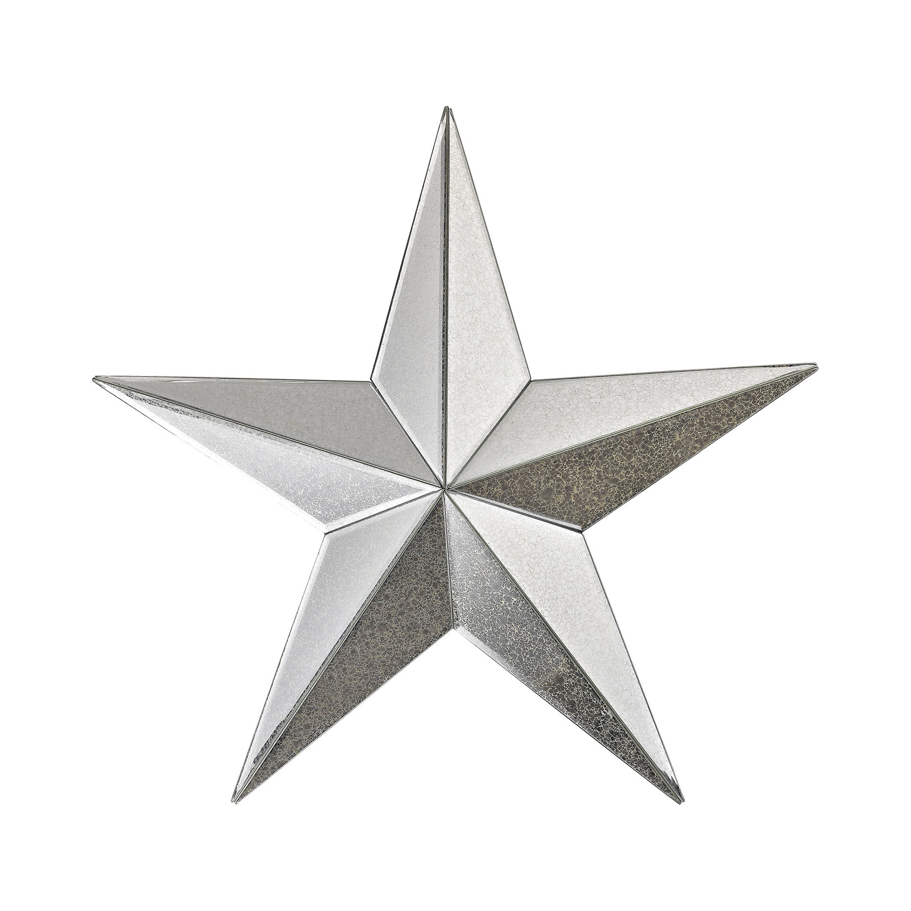 Metal Star Wall Decor 1114 180 Wishmaker Antiqued Mirrored Star Wall Decor