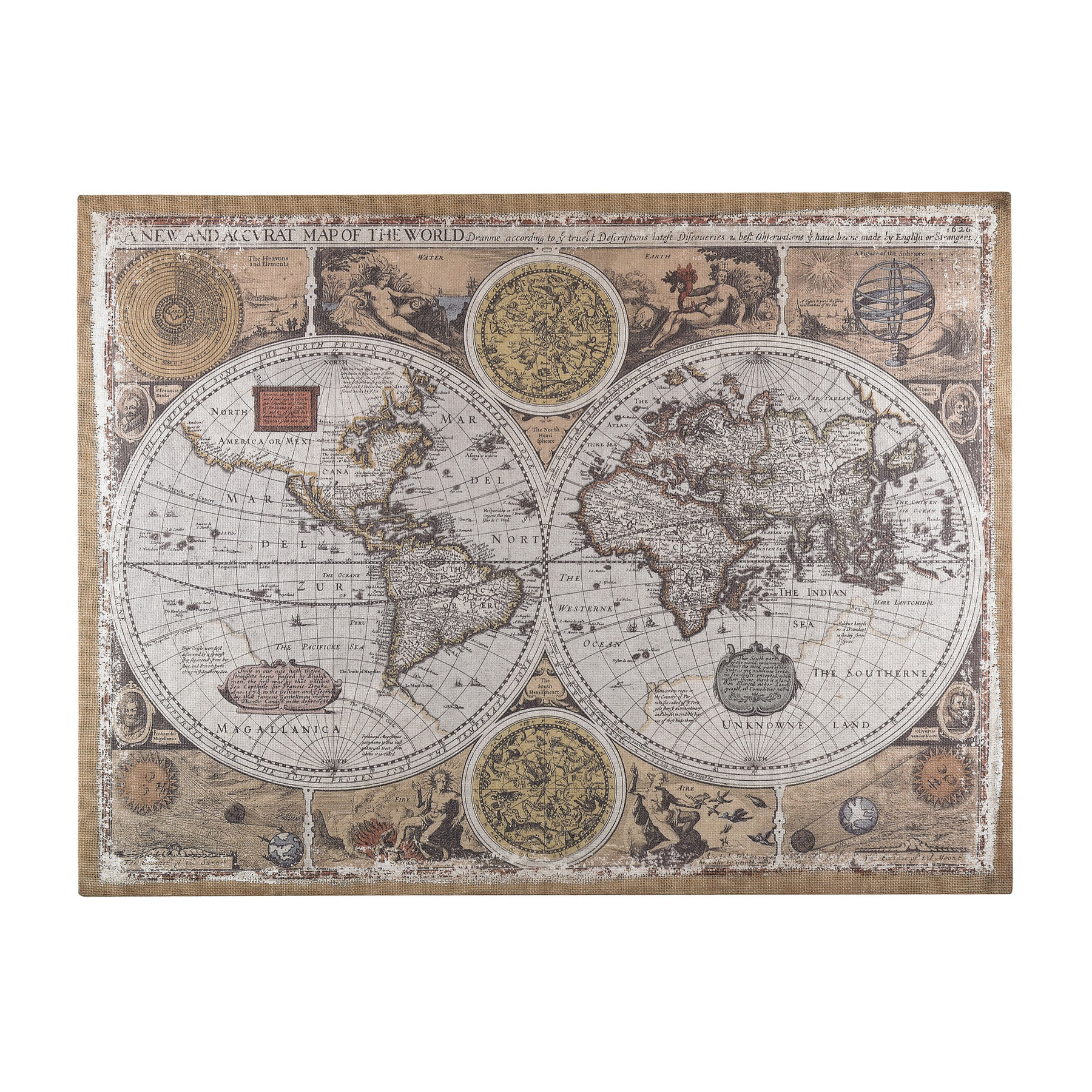 Sterling 138 178 antique style world map wall art gumiabroncs Gallery