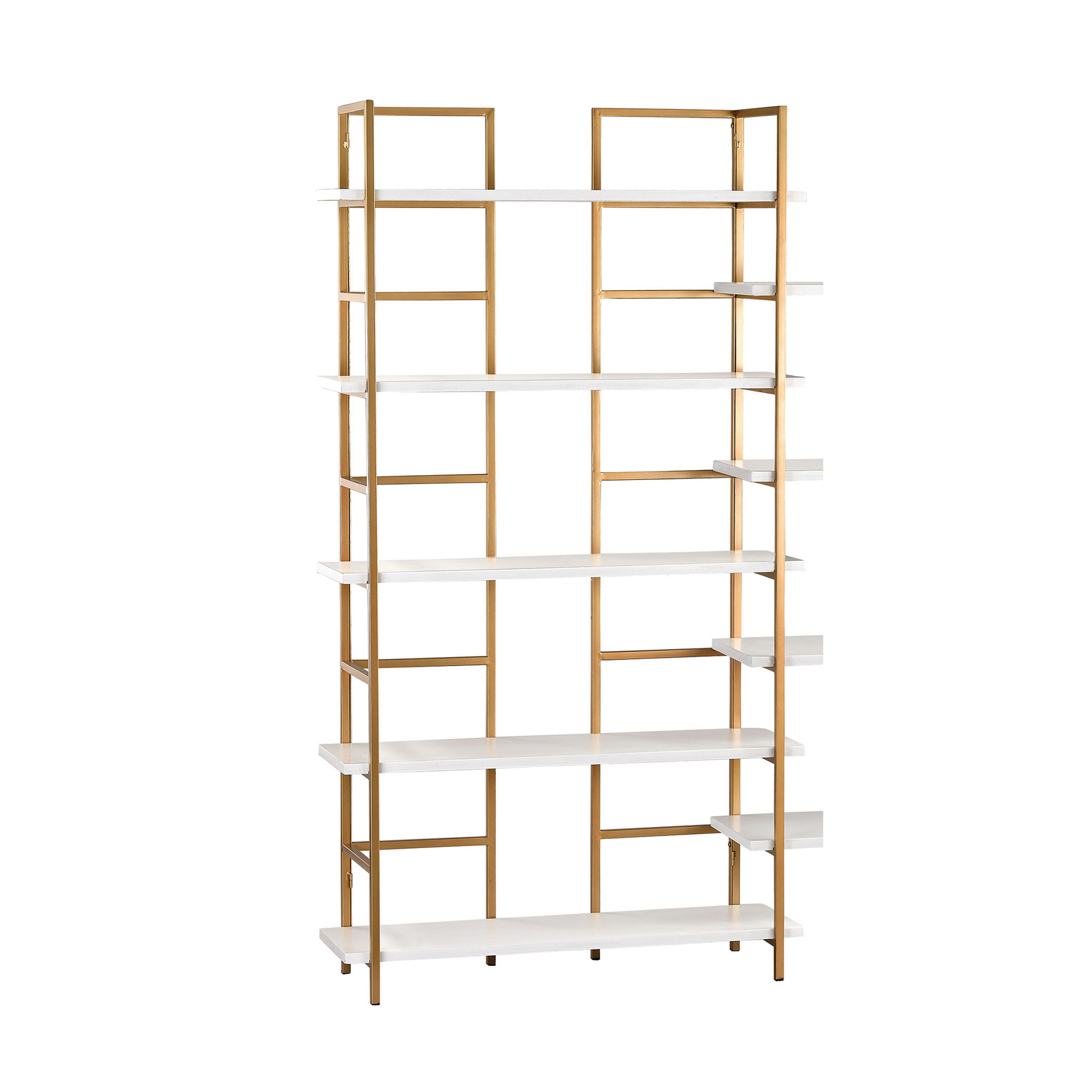 Sterling 351 10204 White And Gold White And Gold Shelving Unit