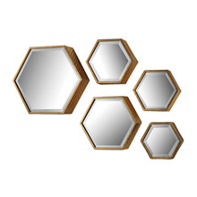 ELK Home 138-170/S5 Hexagonal Beveled Mirrors - Set of 5