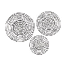 Sterling 3138-276/S3 Triskele Raw Iron Spiral Wall Decor (Set of 3)