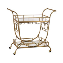 ELK Home 3200-038 Mirrored Server Bar Cart