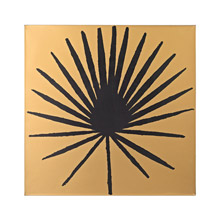 Sterling 351-10169 Palm Frond on Metallic Gold Wood Wall Decor