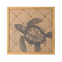 Sterling 351-10193 Turtle on Linen Note Board