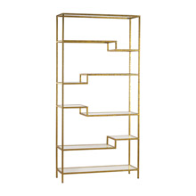 ELK Home 351-10209 Gold Shelving Unit