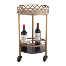 ELK Home 51-015 Circular Quatrefoil Bar Cart