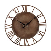 Traditional Roman Numeral Metal Outdoor Wall Clock - Sterling 128-1002