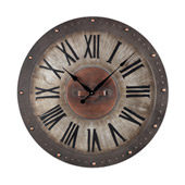 Traditional Roman Numeral Metal Outdoor Wall Clock - Sterling 128-1005