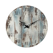 Rustic Roman Numeral Wooden Outdoor Wall Clock - Sterling 128-1008