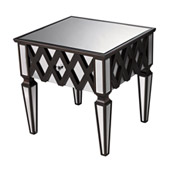Contemporary London Mirrored Side Table - Sterling 6043676