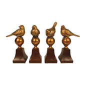 Traditional Audubon Finials (Set Of 4) - Sterling 87-3025