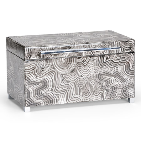 Wildwood 300695 Grey Wood Footed Box (Lg)