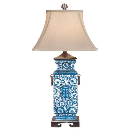 Wildwood 5294 Blue White Heralds Table Lamp