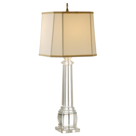 Wildwood 9275 Crystal Square Column Table Lamp