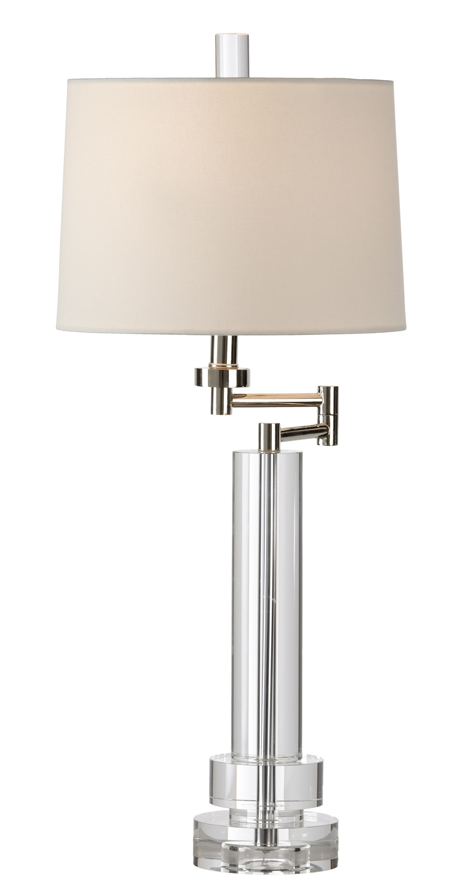 22159 crystal graduated rounds swing arm table lamp view larger image geotapseo Gallery