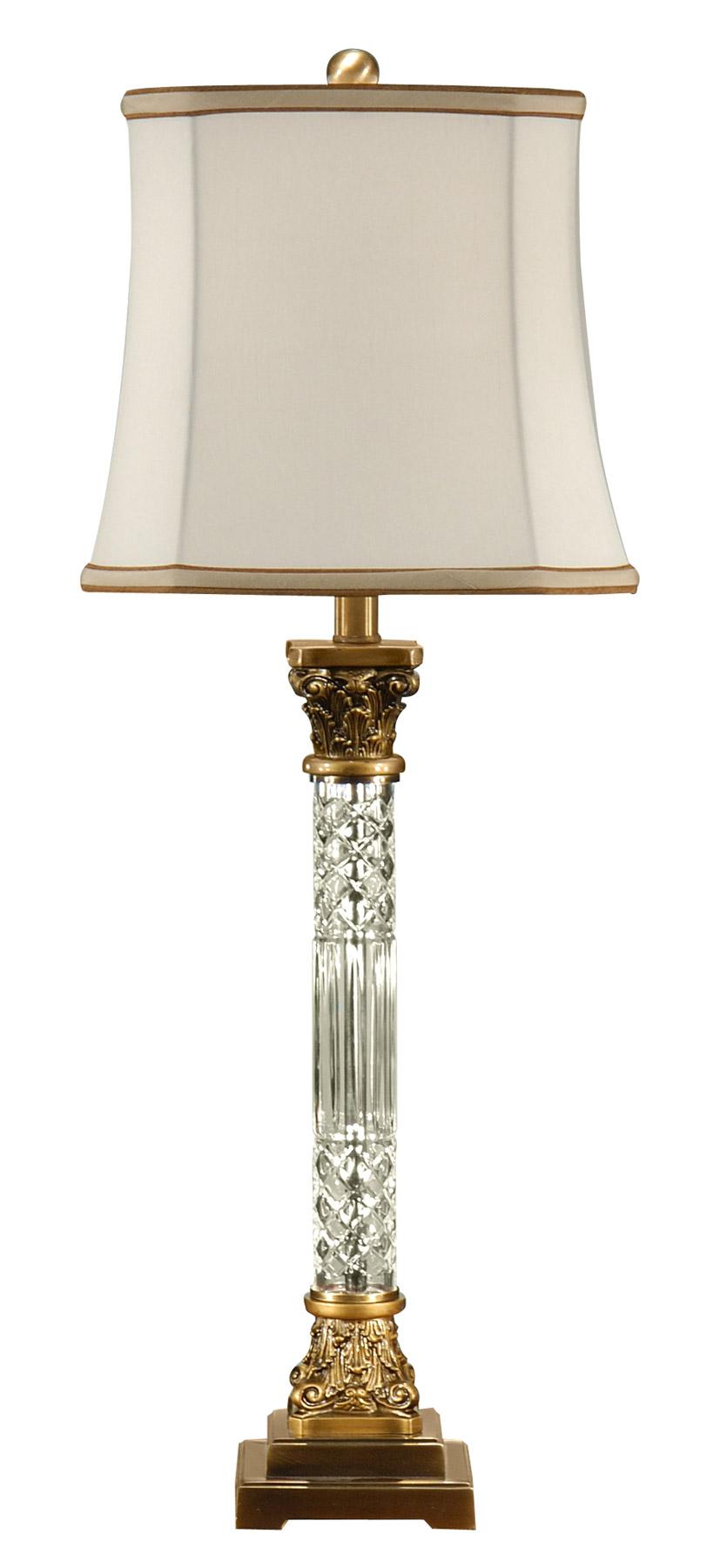 Wildwood 46655 crystal crystal column table lamp view larger image aloadofball Choice Image