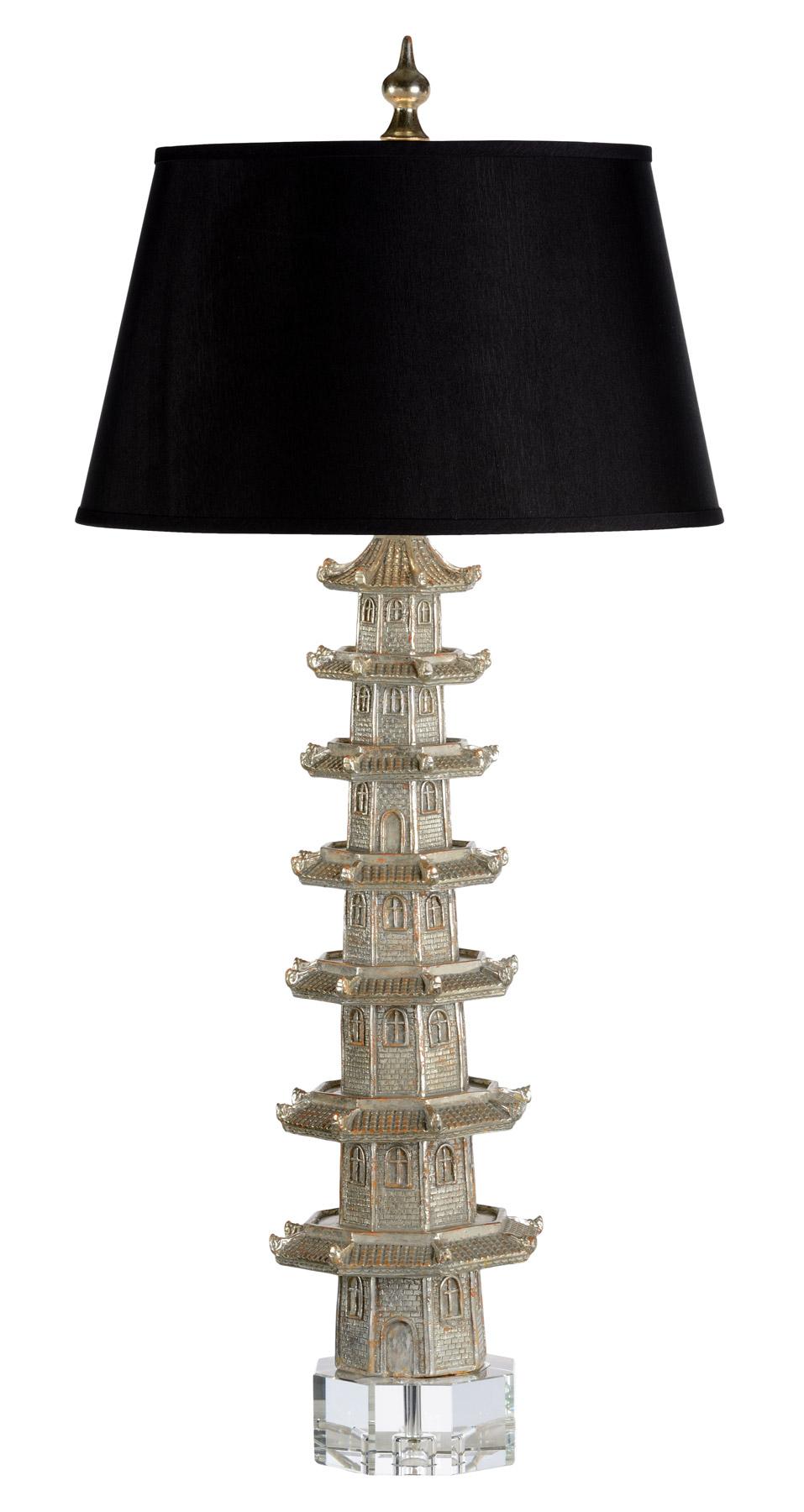 Wildwood 60428 Suzhou Tall Table Lamp Silver