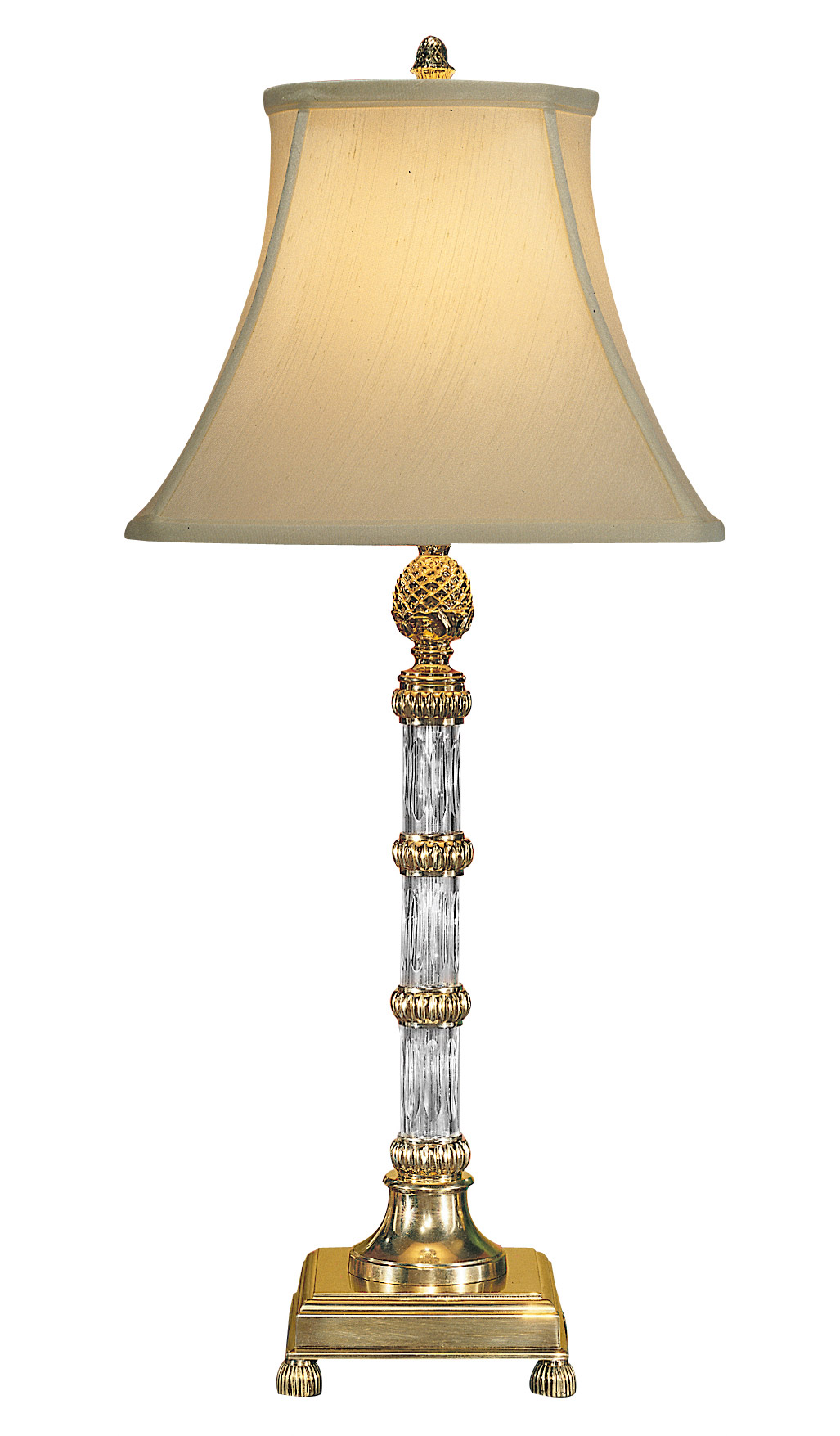 Wildwood 8121 Crystal Pineapple Column Table Lamp
