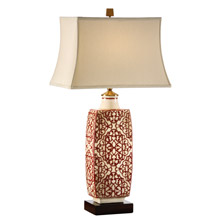 Wildwood 12508 Embroidered Bottle Table Lamp