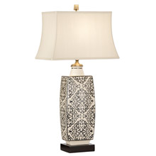 Wildwood 12569 Embroidered Bottle Table Lamp