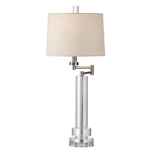 Wildwood 22159 Crystal Graduated Rounds Swing Arm Table Lamp