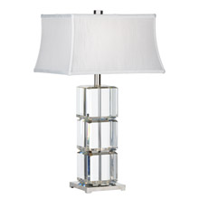 Wildwood 22415 Crystal Cubic Table Lamp